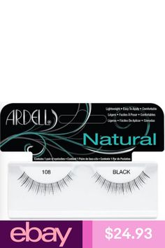 840fe756777 (LOT OF Ardell Natural 108 False Lashes Authentc Ardell Eyelashes Black