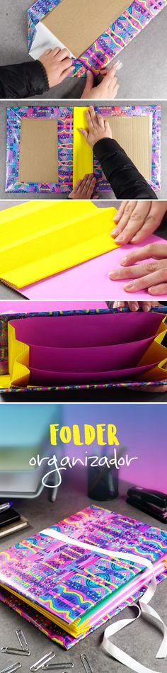 Organiza tus documentos y papelas con este FOLDER fácil e increíble. Perfecto para la oficina o la escuela
