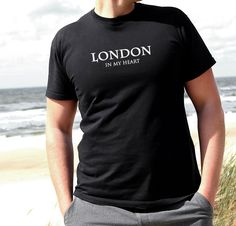 LONDON IN MY HEART T Shirt  Men s Boys Top TEE VOGUE DOPE CELINE FAB TOP FRANCE