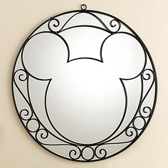 Beautiful Mickey Mouse Mirror #disney #disneydreamhome #dreamhome