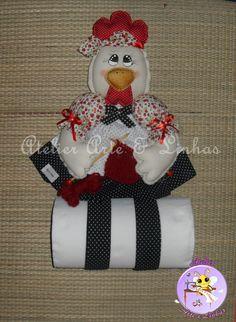 porta rolo de papel toalha Galinha Tricoteira | Flickr - Photo Sharing!