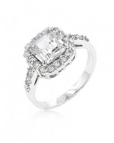 Giselle 4.2ct CZ White Gold Rhodium Ring for $12.00 at Baubles.