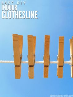 How to Make an Indoor Clothesline