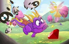 Spyro the Dragon by DaveBardin.deviantart.com on @DeviantArt
