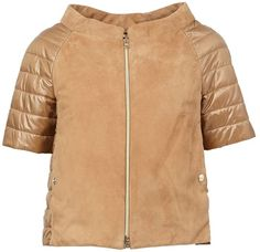 Designer Clothes, Shoes & Bags for Women Suede Jacket, Bomber Jacket, Leather Jacket, Puffy Jacket, Brown Jacket, Women's Puffer, Elegant Chic, Jackets For Women, Real Leather