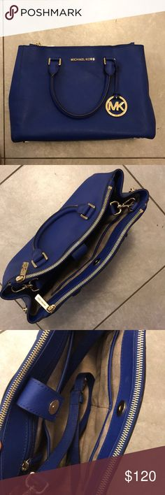 Michael Kors Electric Blue Purse This is a gently used electric blue MK purse. It's just sitting in my closet and I think it's time someone got some use out of it! I've probably used it 3 or 4 times, and it looks brand new. Michael Kors Bags Shoulder Bags
