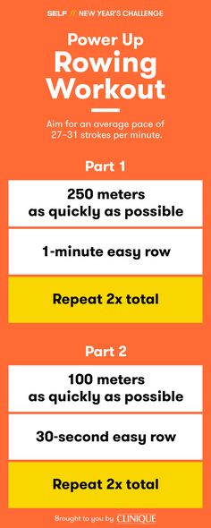 Always wanted to try the rowing machine? This interval workout is a great place to start! Rowing is a smart way to mix up your cardio routine, plus it's a full-body workout so every muscle is in on the fun. Ready, set, pull!