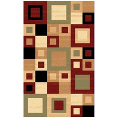 Dynamic Rugs Yazd 8960-340 Red-Sage Area Rug