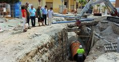 Las obras de la primera fase de la calle Ancha se centran en la renovación de las redes de saneamiento y abastecimiento