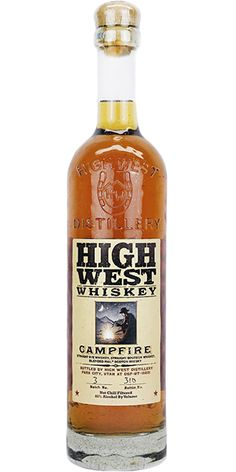 High West Campfire Whiskey. One of the most bizarre and unique Whiskeys you will ever taste. The Campfire is a blend of a 6 year old Bourbon, 5.5 year old Rye Whiskey and an 8 year old peated Scotch from the Scottish mainland.  It blows thy senses. GBP 53.99