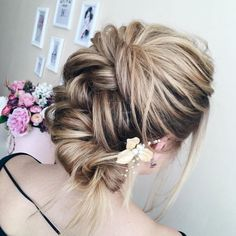 Messy Bridal Updo Hairstyle with Flower.jpg