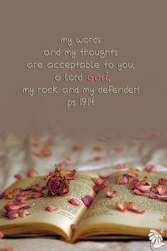 Psalm 19:14  - Rose Scripture