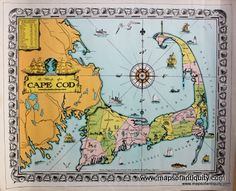 Antique Maps and Charts – Original, Vintage, Rare Historical Antique Maps, Charts, Prints, Reproductions of Maps and Charts of Antiquity-Chatham, Cape Cod.