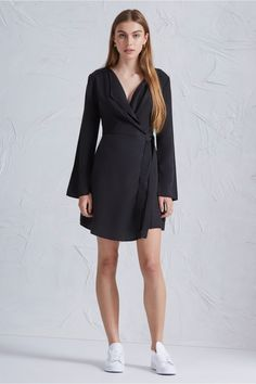 THE FIFTH HARMONY LONG SLEEVE DRESS BLACK - BNKR