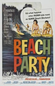 Beach Party Movie poster Metal Sign Wall Art 8in x 12in