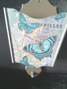 elyapımı kelebekli aşap posta kutusu