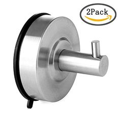 KES SUS 304 Stainless Steel Suction Cup Hook Single Coat Hook Removable  Bathroom Shower Towel Hook Kitchen Wall Hook Strong And Heavy Duty  Contemporary ...