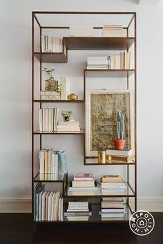 gorgeous bookcase but backward facing books?