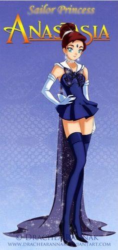 もしもディズニープリンセスがセーラー戦士になったら!? セーラームーンな格好をしたシンデレラや白雪姫を描いたイラストがかっわいいー!! | Pouch[ポーチ]