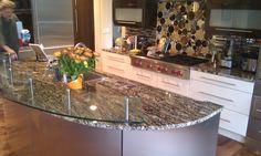 Glass countertop by Studio L. Glassworks.