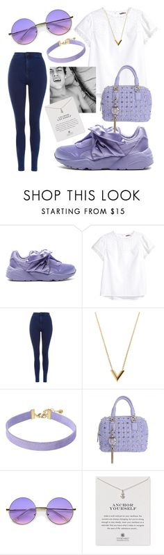 """""""Purple Day🤘🏼"""" by maris3456 ❤ liked on Polyvore featuring Puma, H&M, Topshop, Louis Vuitton, Vanessa Mooney, Versace, ZeroUV, Dogeared, purple and dolantwins"""