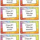 Ordinal Numbers Game - My Ordinal Number I Have… Who Has…? is a classic classroom game adapted to practise this basic skill in an enjoyable way.   ...