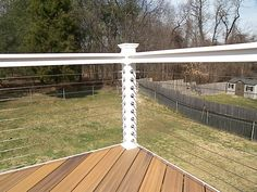 Atlantis Rail systems stainless steel cable #deck railing and Fiberon Decking Ipe composite flooring.