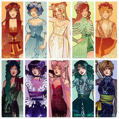 Sailor Scouts art by Hannah Alexander Sailor Jupiter, Sailor Venus, Sailor Moon S, Sailor Moon Crystal, Sailor Pluto, Sailor Neptune, Sailor Scouts, Princesas Disney Zombie, Sailor Saturno