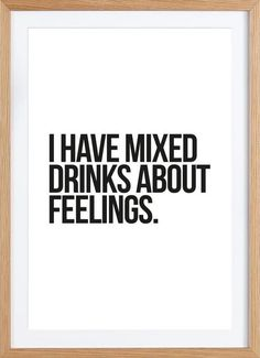 Mixed Drinks als Framed Poster door JUNIQE   JUNIQE