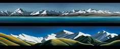 Southern Alps New Zealand - panoramic landscapes by Diana Adams. Canvas + paper art-prints from imagevault.co.nz