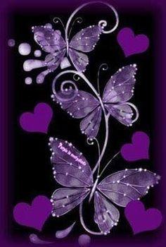 By Artist Unknown. Heart Wallpaper, Purple Wallpaper, Butterfly Wallpaper, Love Wallpaper, Cellphone Wallpaper, Wallpaper Backgrounds, Iphone Wallpaper, Disney Wallpaper, Wallpaper Quotes