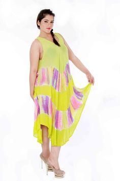 yellow tie-n-dye dress