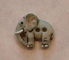 porcelain Elephant button