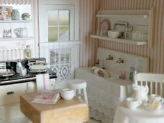 "miniature kitchen by ""Cynthia's Cottage Miniatures"""