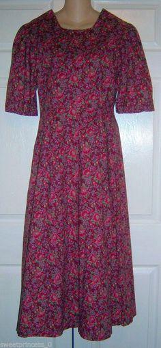 "Amish Mennonite Modest Handmade Fall Cape Dress 38""Bust/ 32"" Waist #Handmade…"