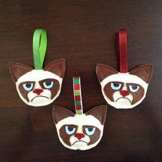 Grumpy Cat Christmas Ornaments
