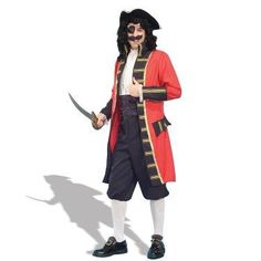 Aye, matey! Rough seas ahead, but nothing an experienced Bucaneer Capt. like you can't handle! #Captain #Pirate #Costume #Halloween