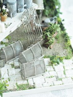 miniature* ガーデニングショップ完成 : natural色の生活~handmade家具