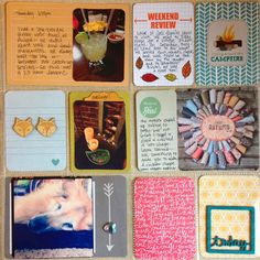 Mrs Crafty Adams | Project Life Week 42 Freckled Fawn Chic Tags #ohdeermekit