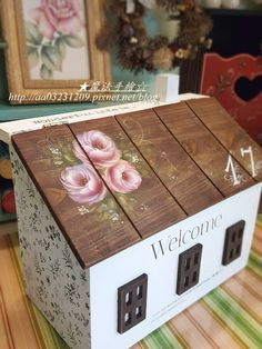 Decorative Boxes, Blog, Painting, Painted Roses, Home Decor, House, Boxes, Decorated Boxes, Furniture