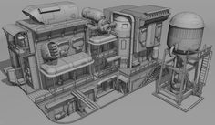 vehicle and architecture sketches Environment Concept Art, Environment Design, Fallout 4 Settlement Ideas, Cyberpunk Anime, Mobiles, Sci Fi Games, Spaceship Interior, Apocalypse Art, Anime City