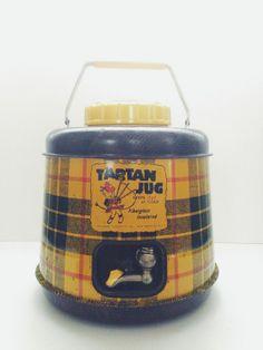 Vintage Plaid Tartan Jug // Thermos
