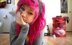 I really, really, want to have pink hair again.