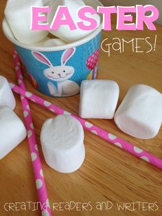 "Fun and simple Easter ""Minute-to-Win-It"" Games for the Classroom ... great with family and friends at home, too! (Creating Readers and Writers)"