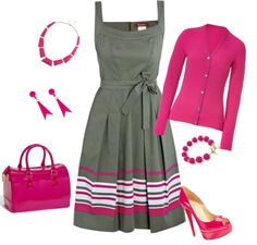 """""""Hot pink"""" by peridotpixie on Polyvore"""