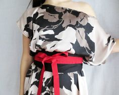 One size fits all dress with obi belt plus size by AliceCloset