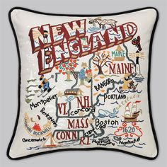 Their embroidered pillows are so cool! catstudio.com