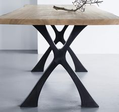 The Exe dining table is a modern take on an old refectory table, perfect for family life. The table can be made in any size and with a glass or wooden top. Wooden Table Top, Wooden Tops, A Table, Dining Table Design, Modern Dining Table, Dining Chairs, Dining Rooms, Tiffany Chair, Furniture Collection