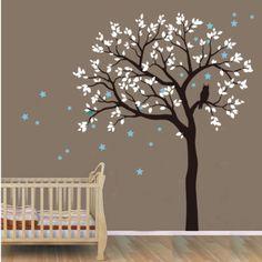 200x230cm Owl Hoot Star Tree Wall Stickers Vinyl Decal Kids Nursery Decor Art AU
