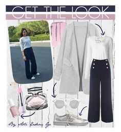 """""""Get The Look- Sailor Pants"""" by morcarterly ❤ liked on Polyvore featuring NLXL, T By Alexander Wang, Jane Norman, Converse, Christian Dior, Gucci, Essie and Lirikos"""